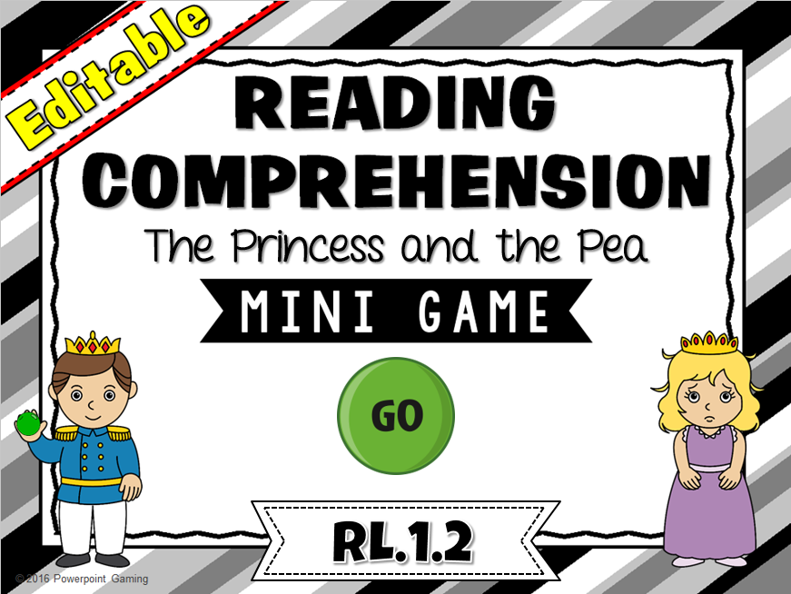 Reading Comprehension - The Princess and the Pea Mini Game