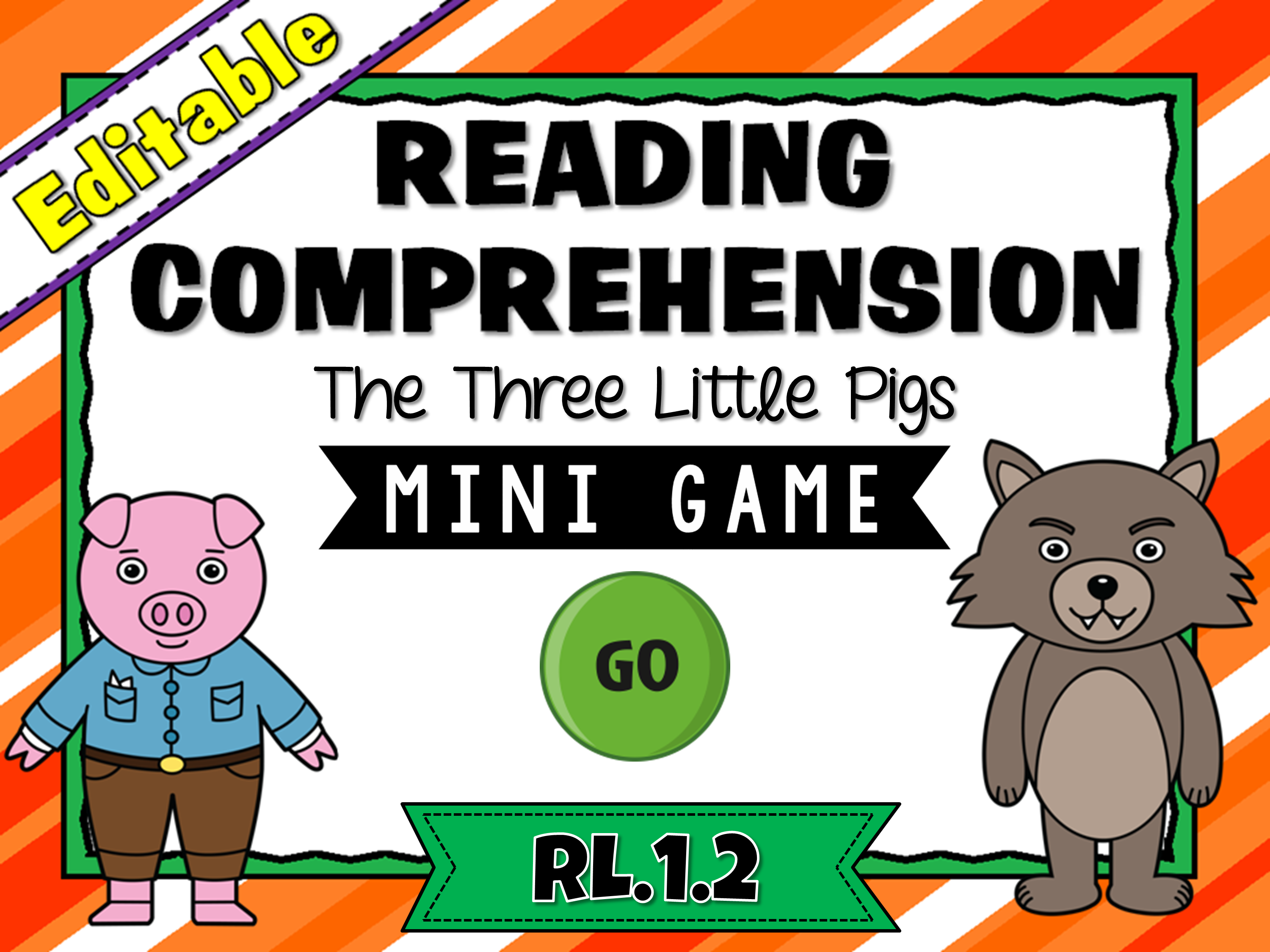 Reading Comprehension - The Three Little Pigs - Mini Game