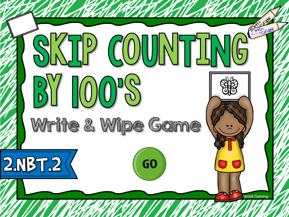Skip Counting by 100 Write and Wipe Game