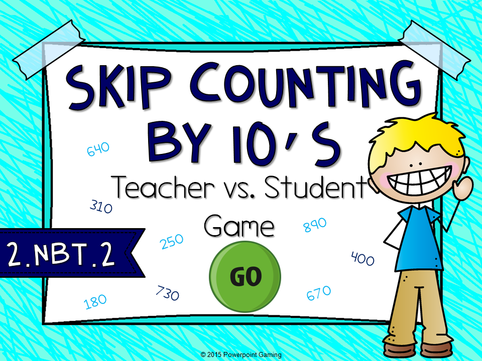 Skip Counting by 10s Teacher vs Student Game