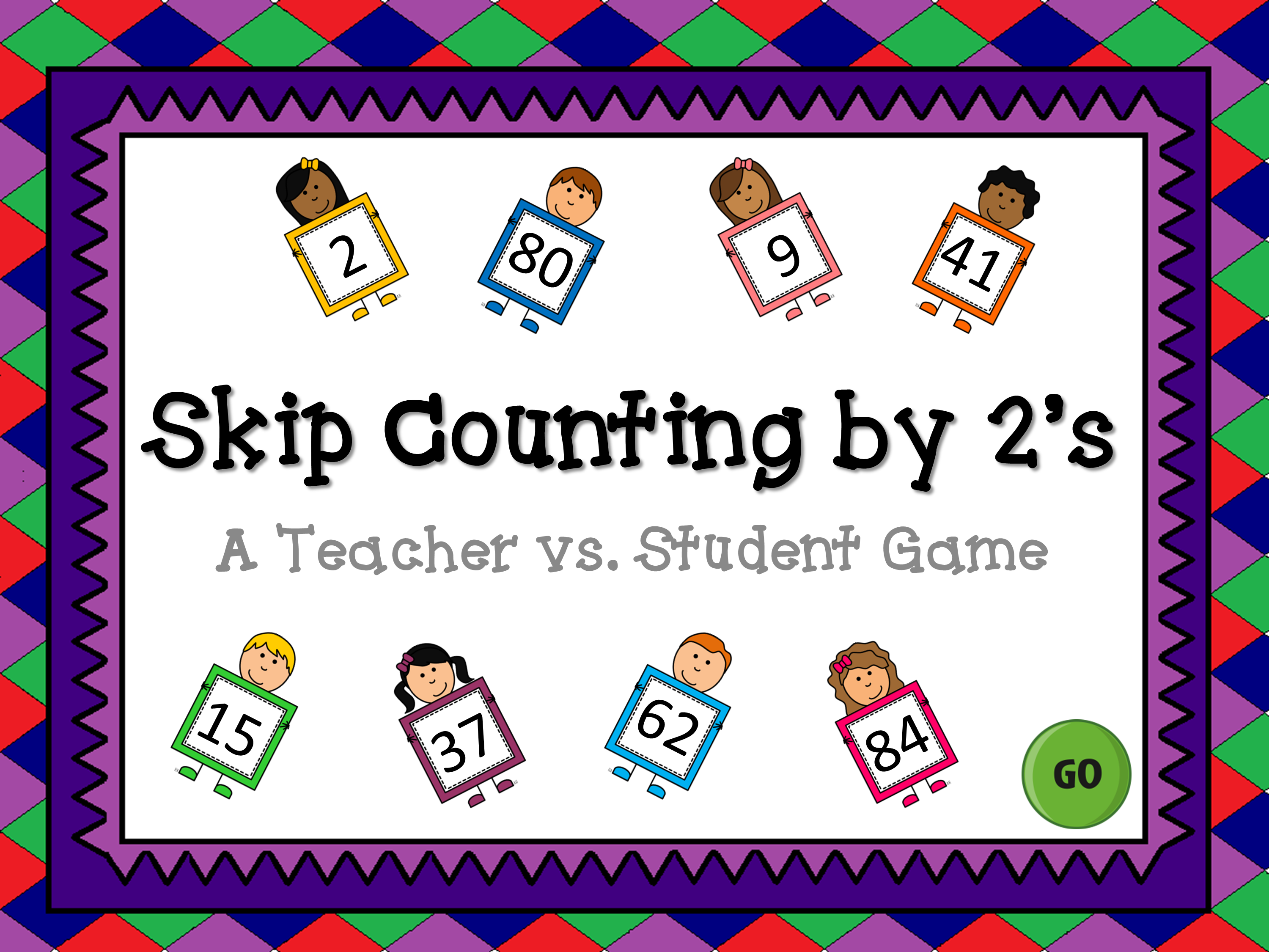 Skip Counting by 2's Teacher vs Student Game