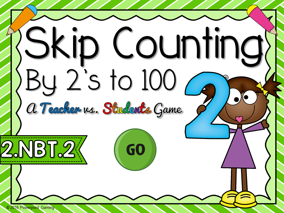 Skip Counting by 2's to 100 Teacher vs Student Game