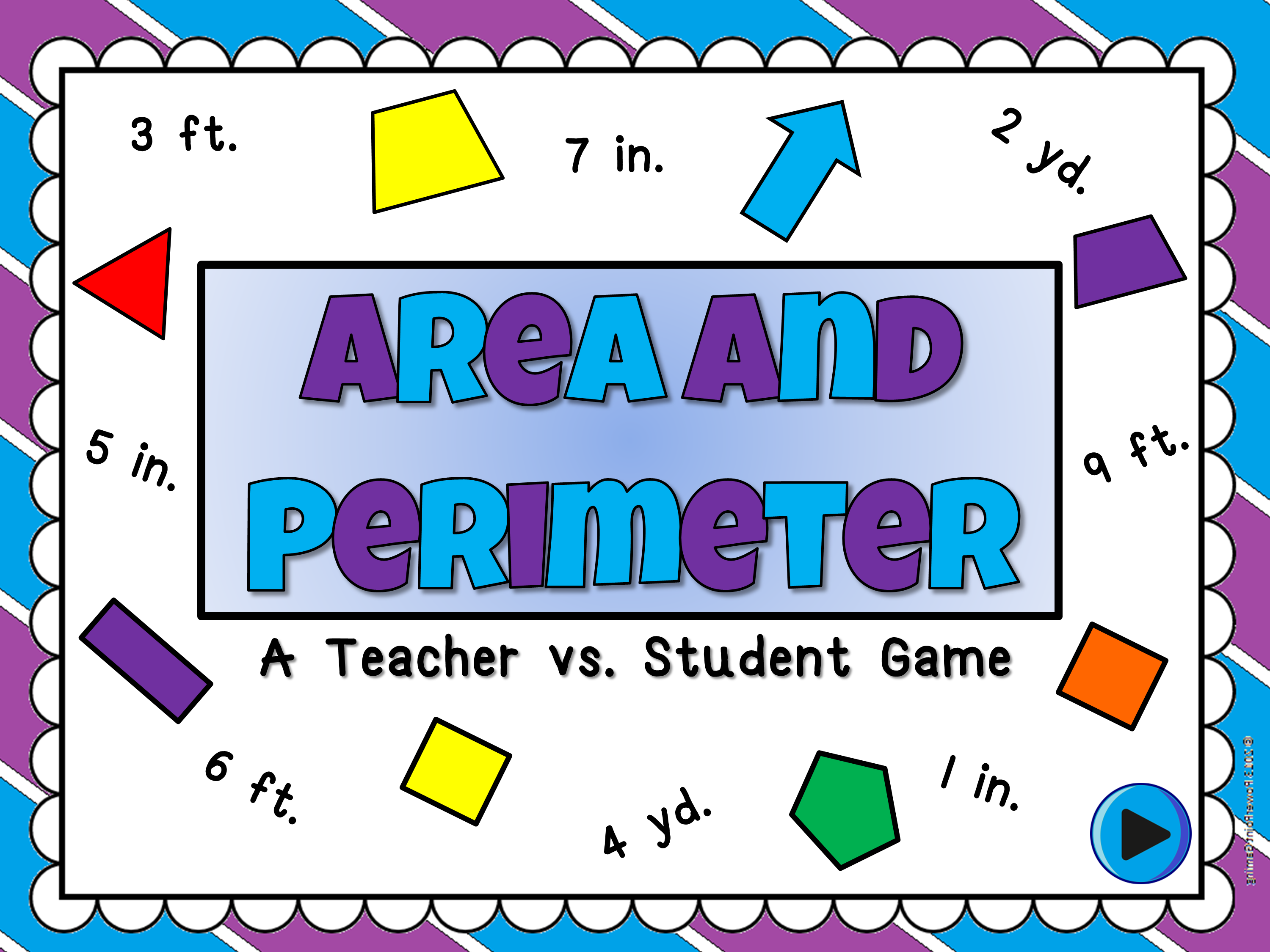 Area and Perimeter Teacher vs Student Game - Customary System