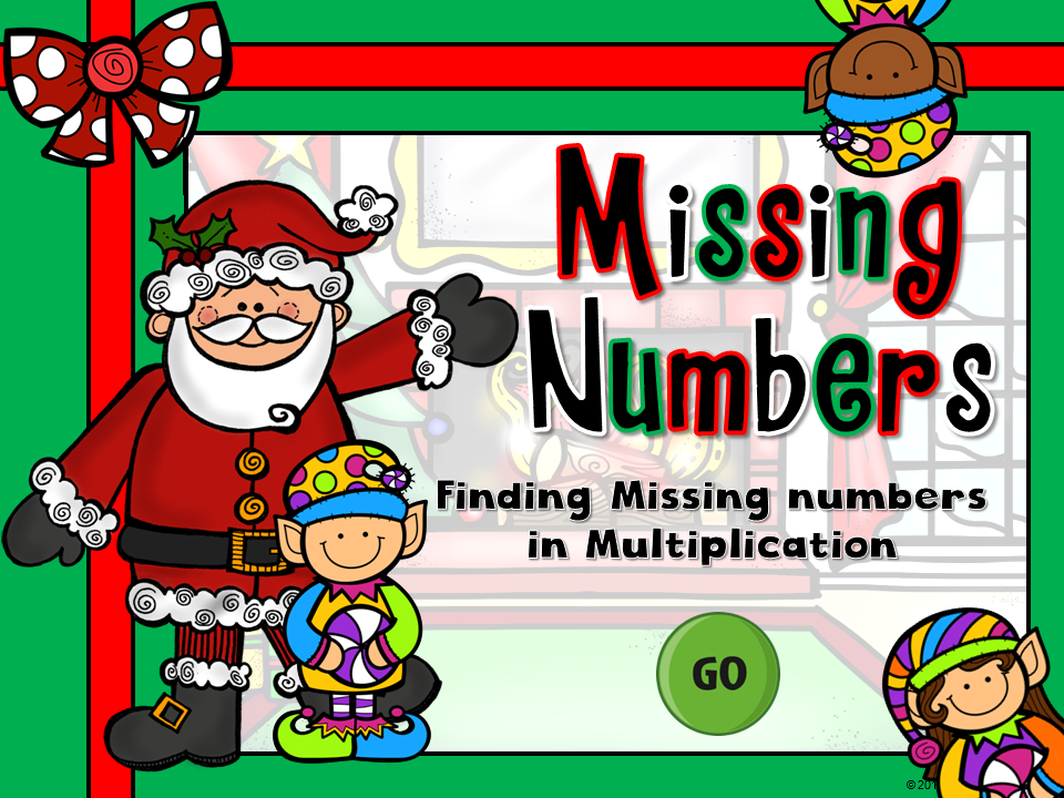 Missing Numbers in Multiplication Game