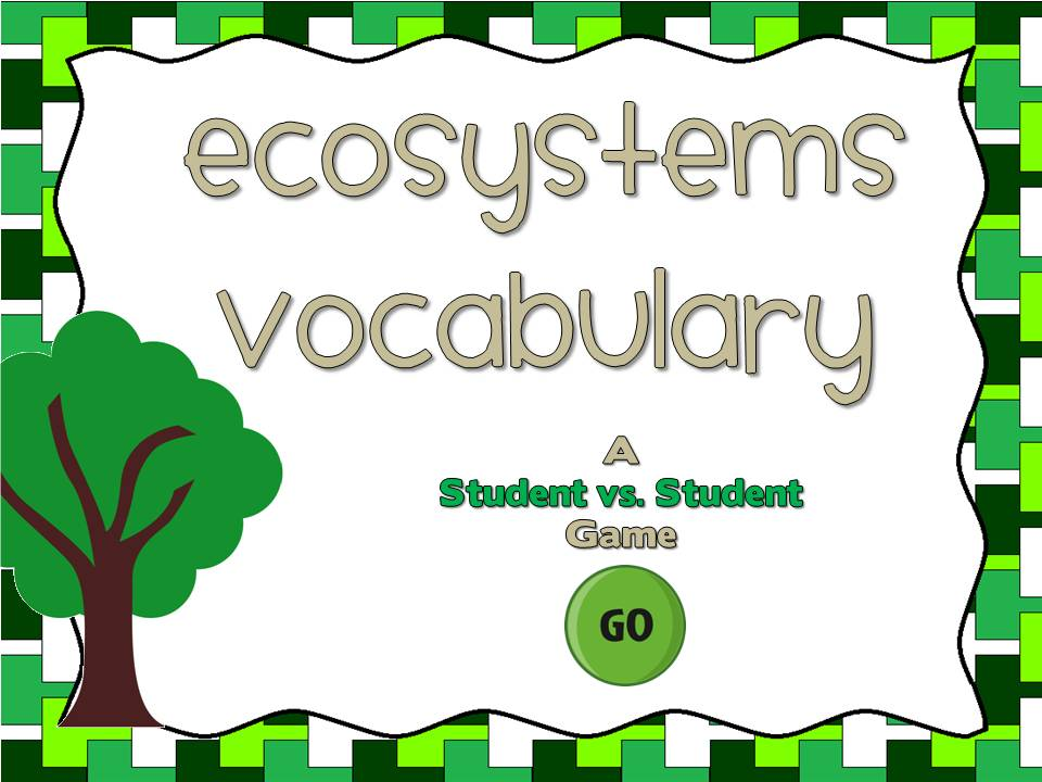 Ecosystem Vocabulary Student vs Student Game