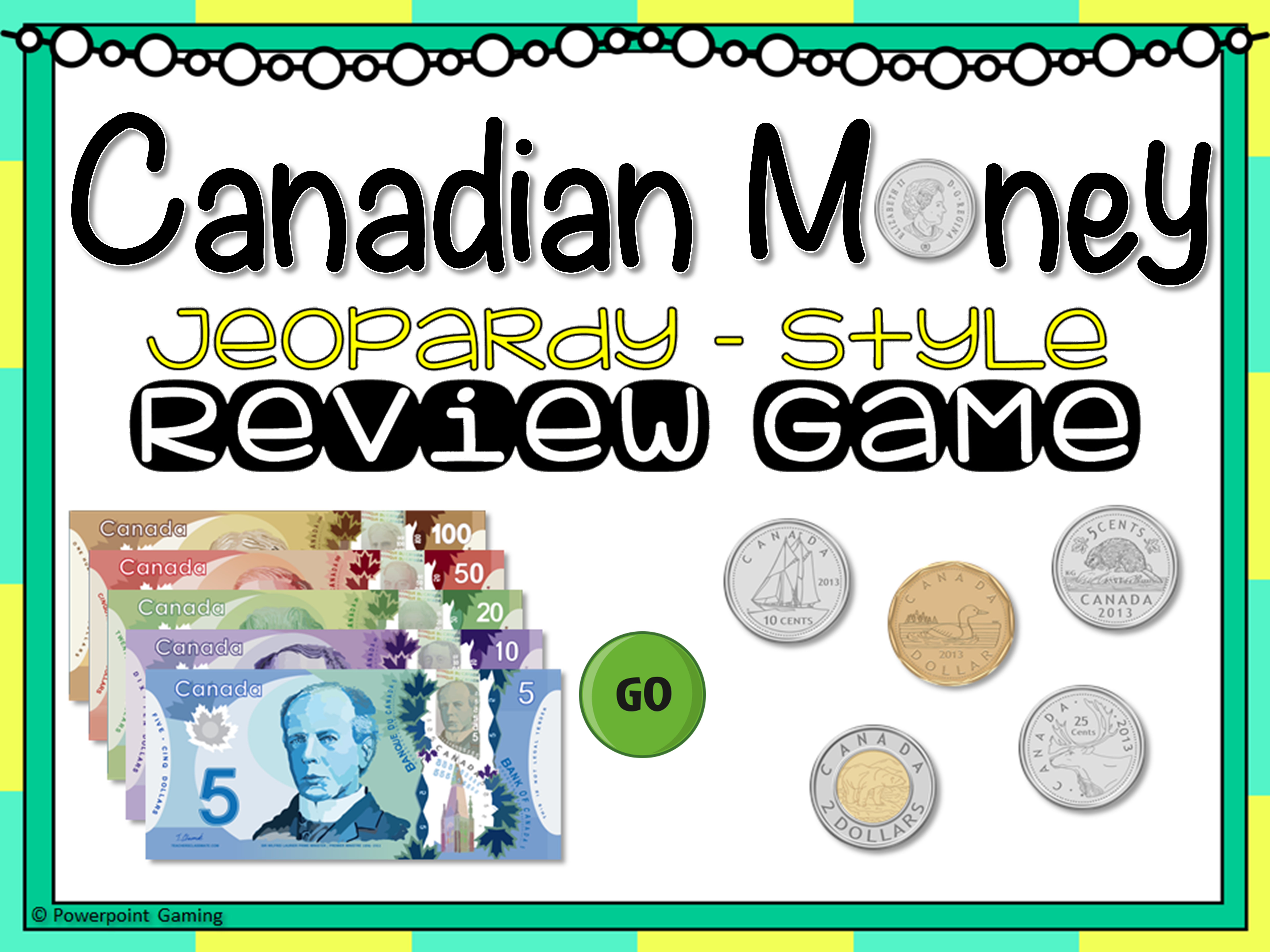 Canadian Money Jeopardy Game Cover