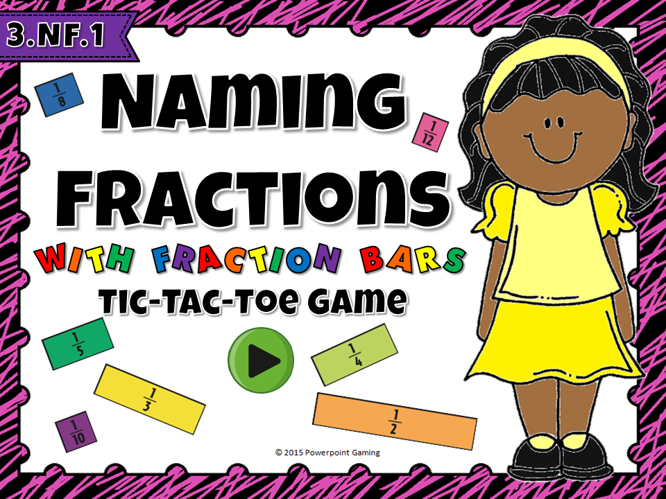 Naming Fractions Tic-Tac-Toe Game