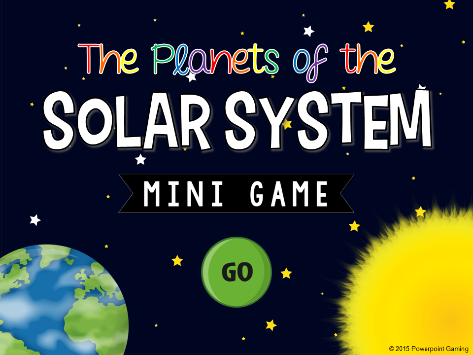 The Planet of the Solar System Mini Game