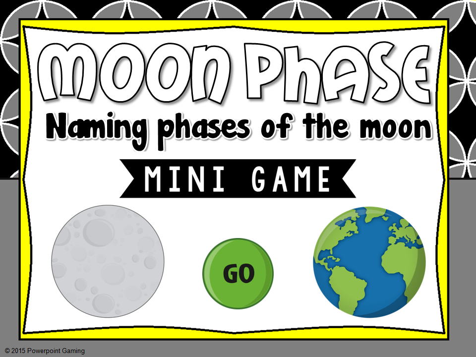 Naming Phases of the Moon Mini Game