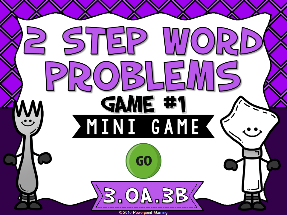 2 Step Words Problems Addition Mini Game
