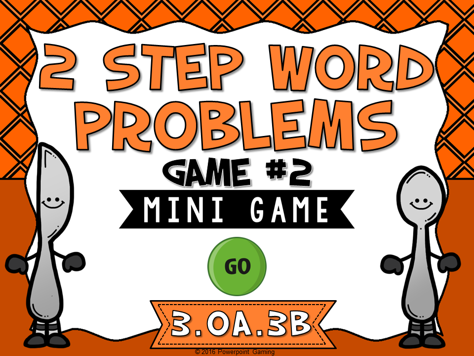 2 Step Words Problems Subtraction Mini Game