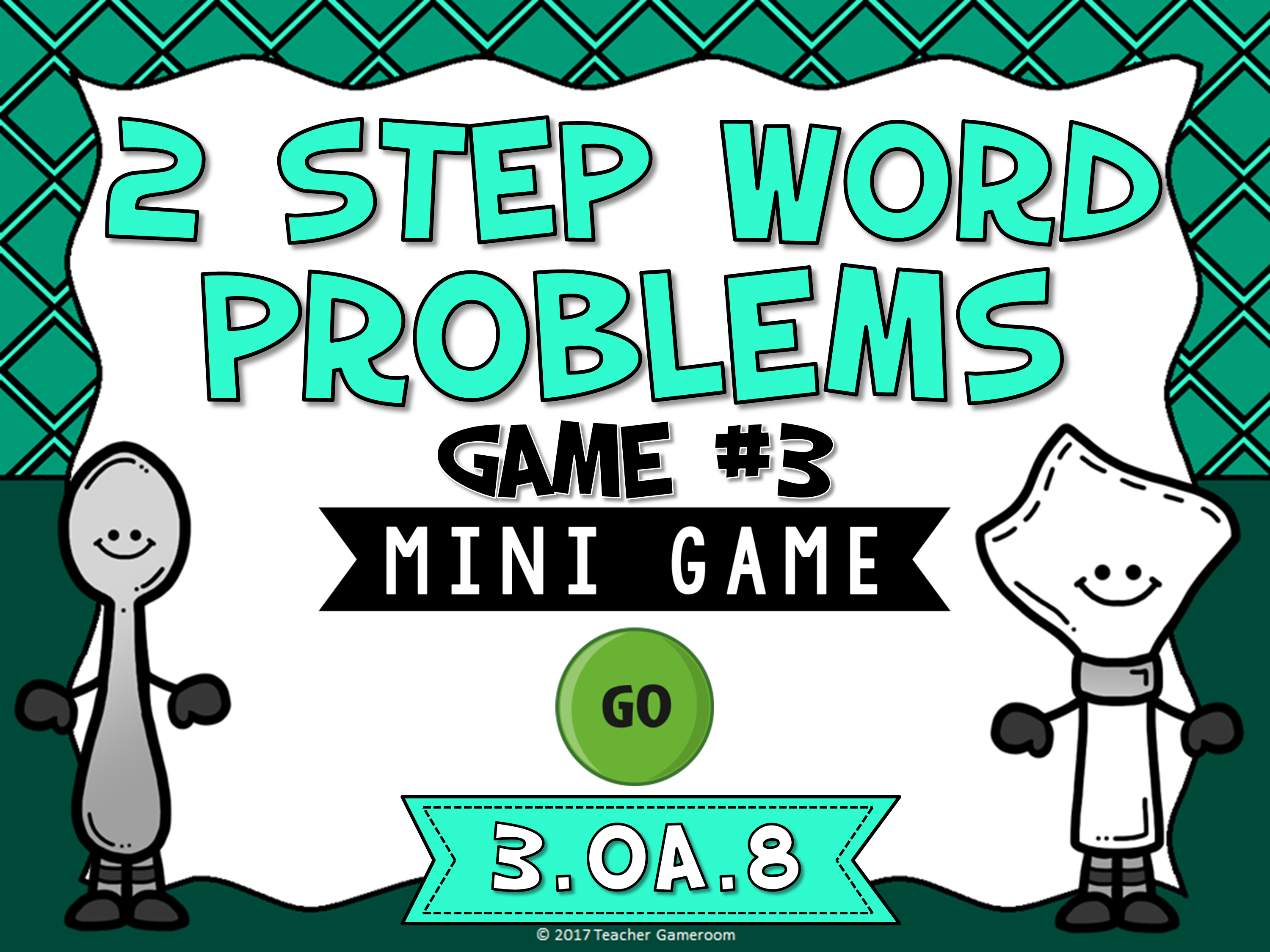 2 Step Words Problems Multiplication Mini Game