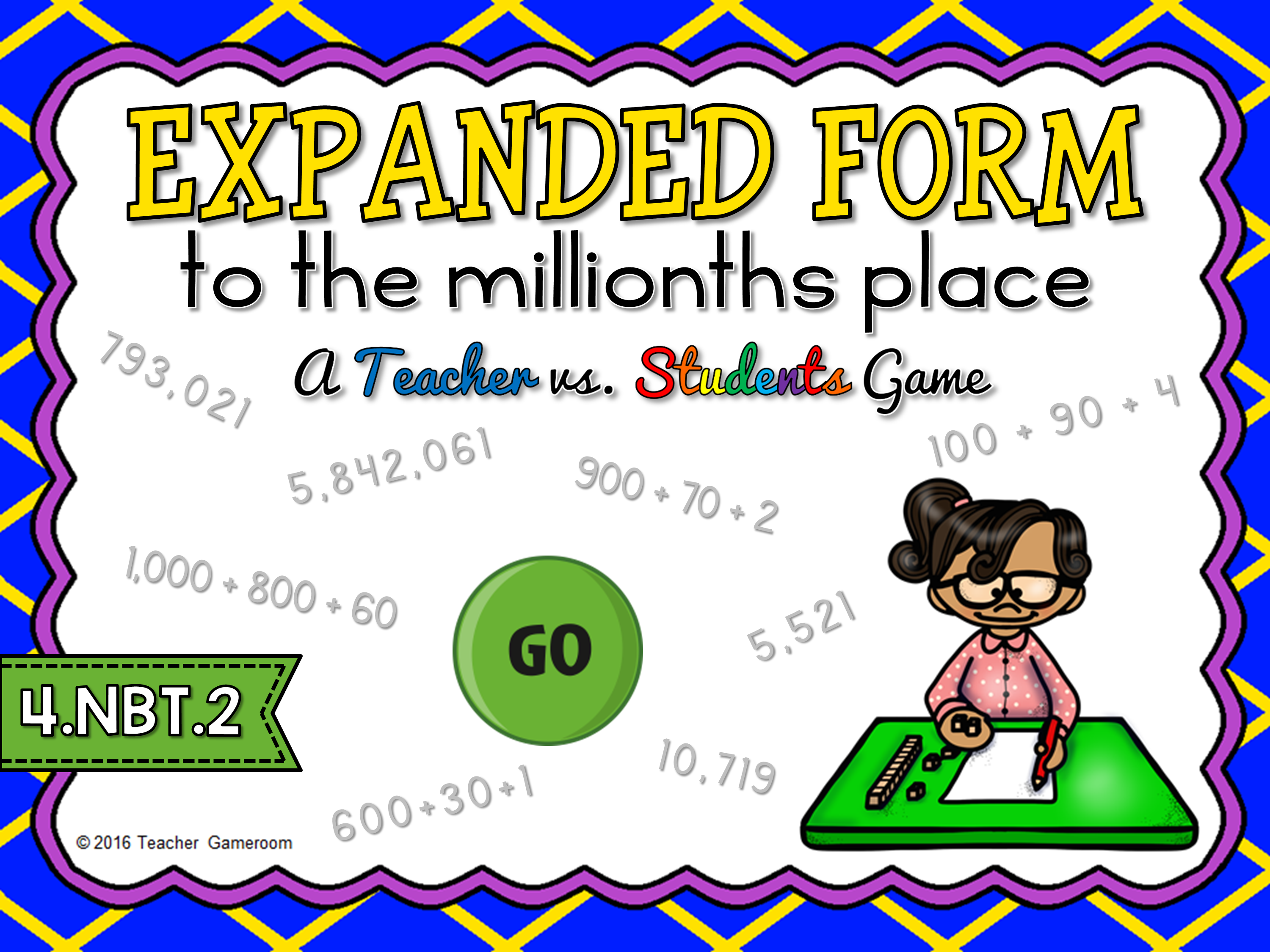 Expanded Form to the Millions Game