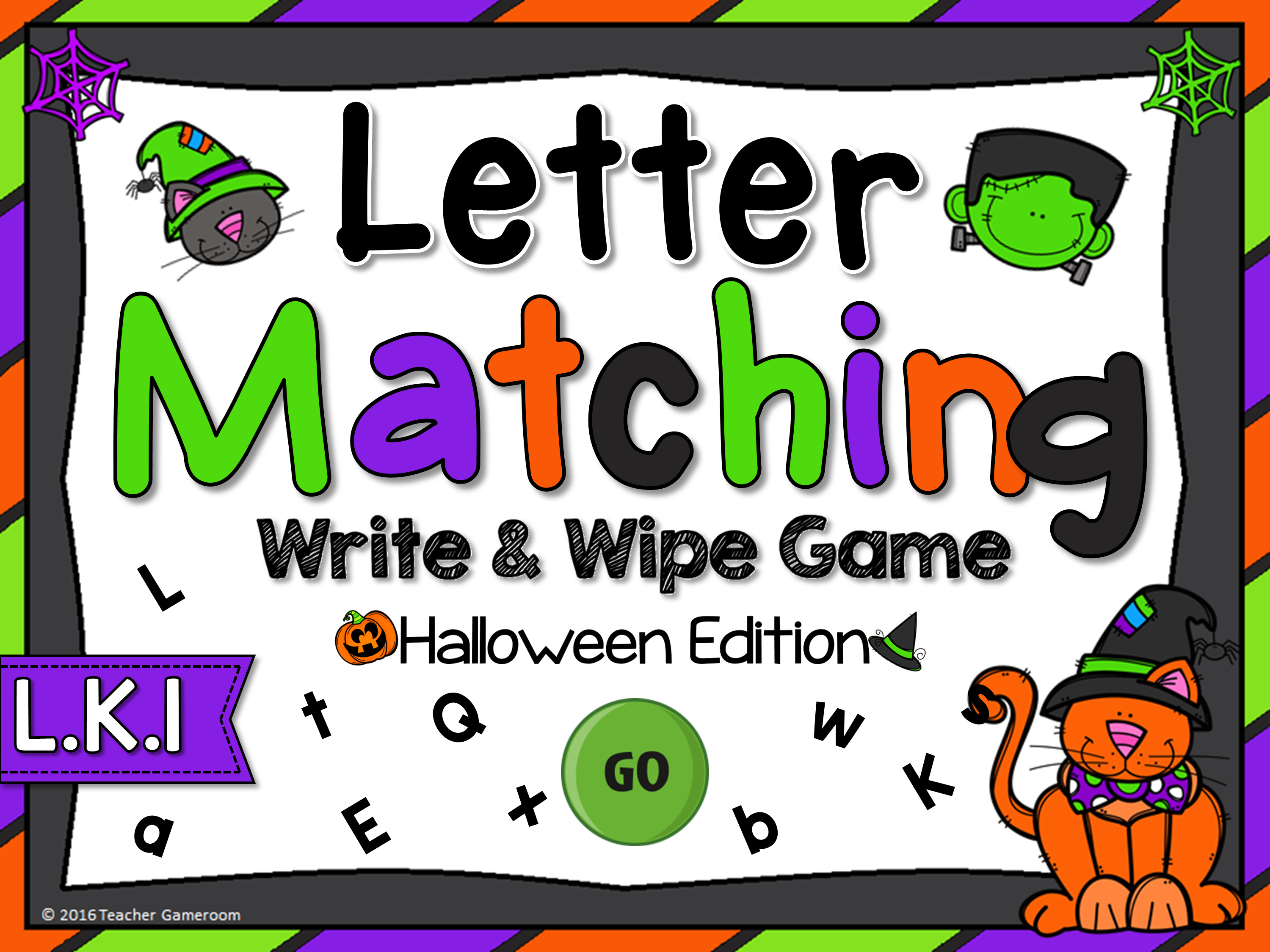 Letter Matching Halloweeen Game