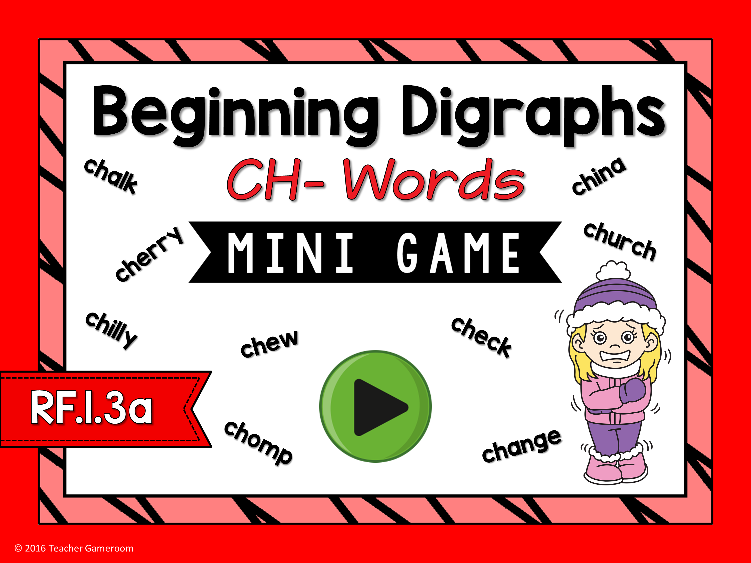 Beginning Digraphs Ch- Words Mini Game