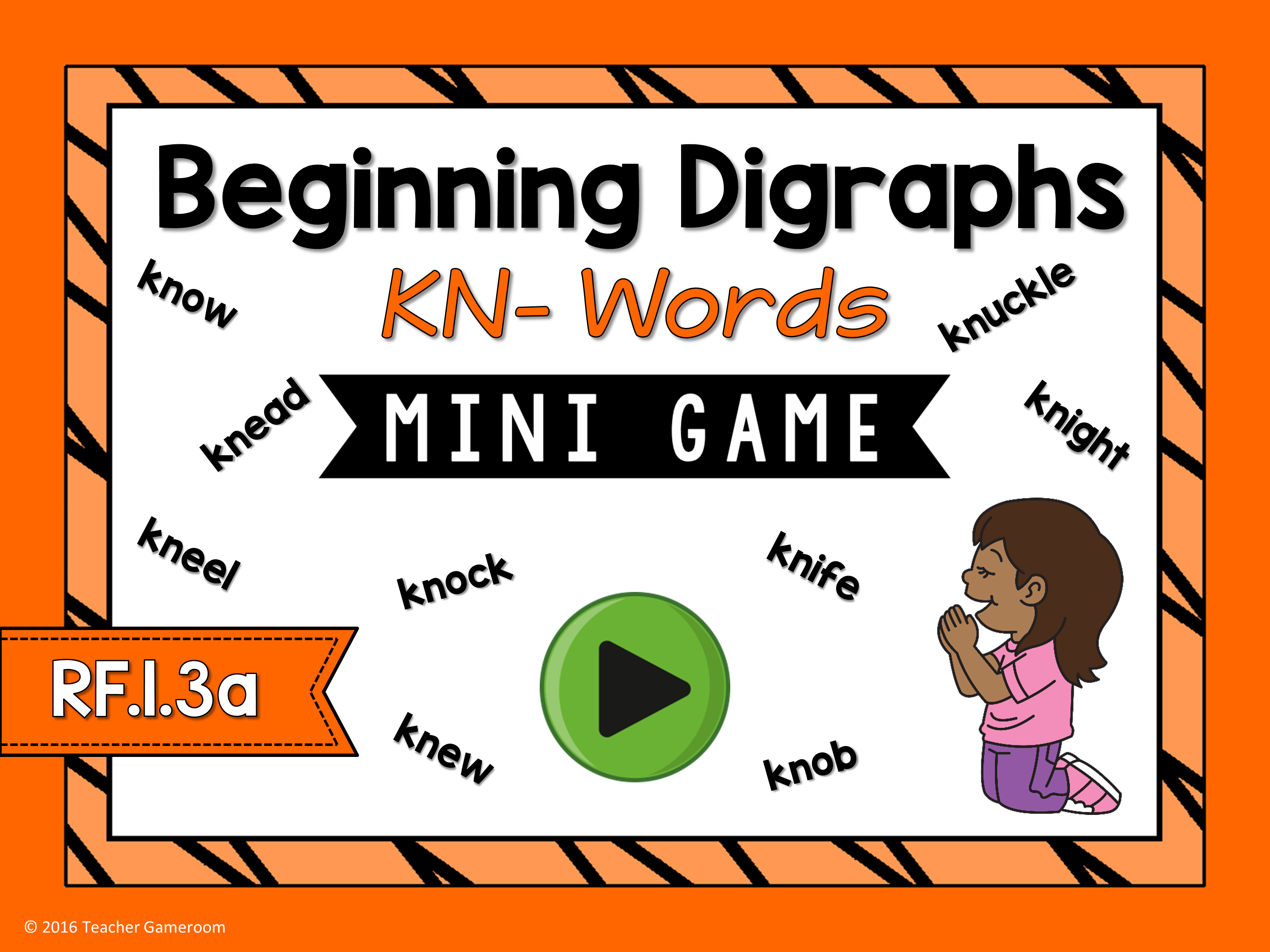 Beginning Digraphs Kn Words Mini Game