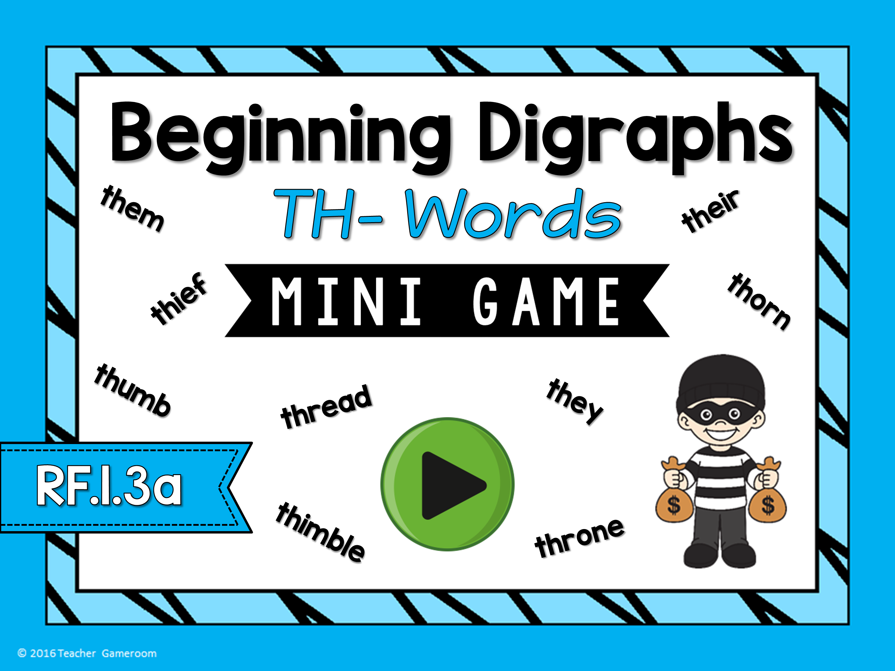 Beginning Digraphs Th- Words Mini Game