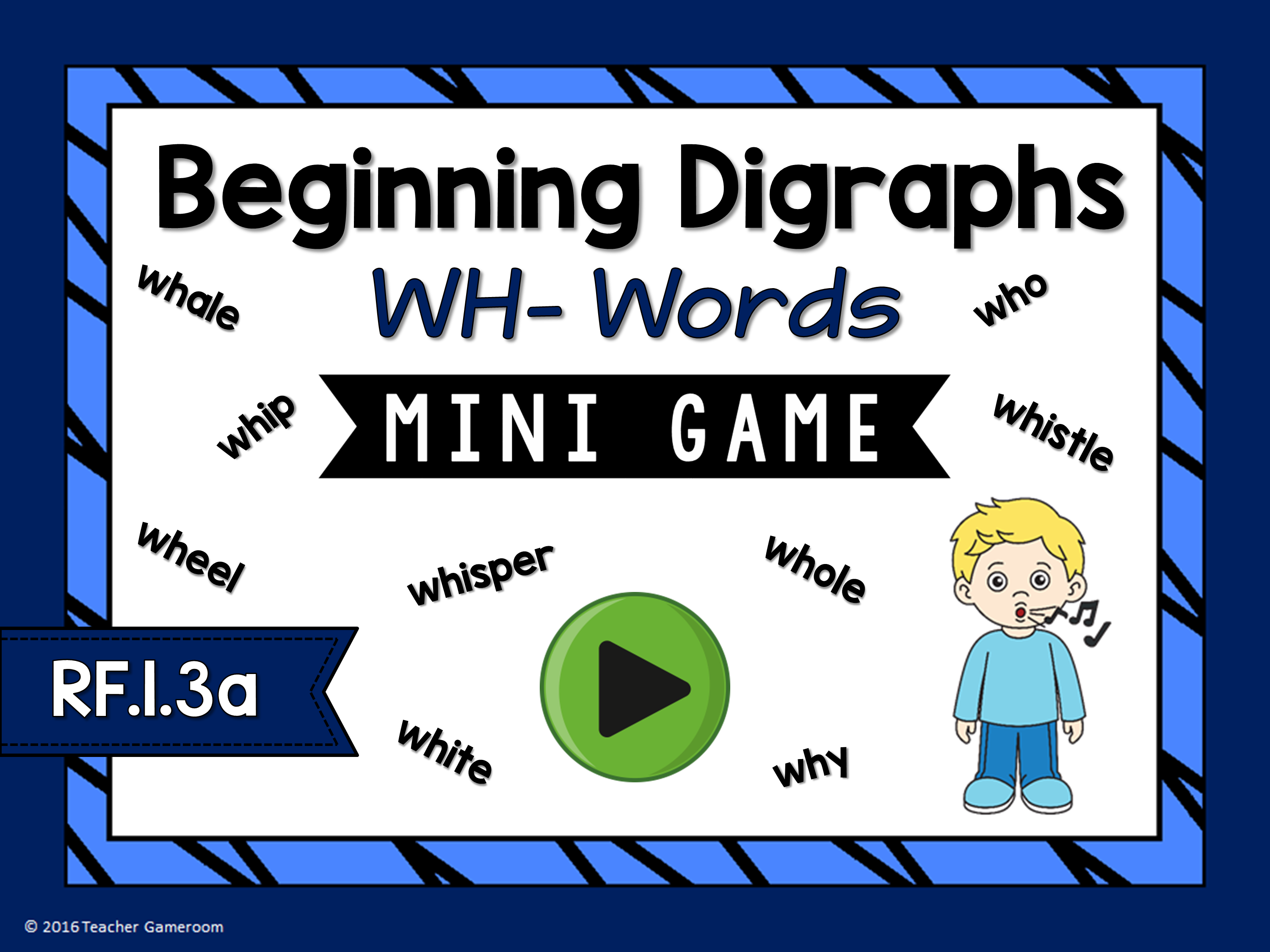 Beginning Digraphs Wh Words Mini Game