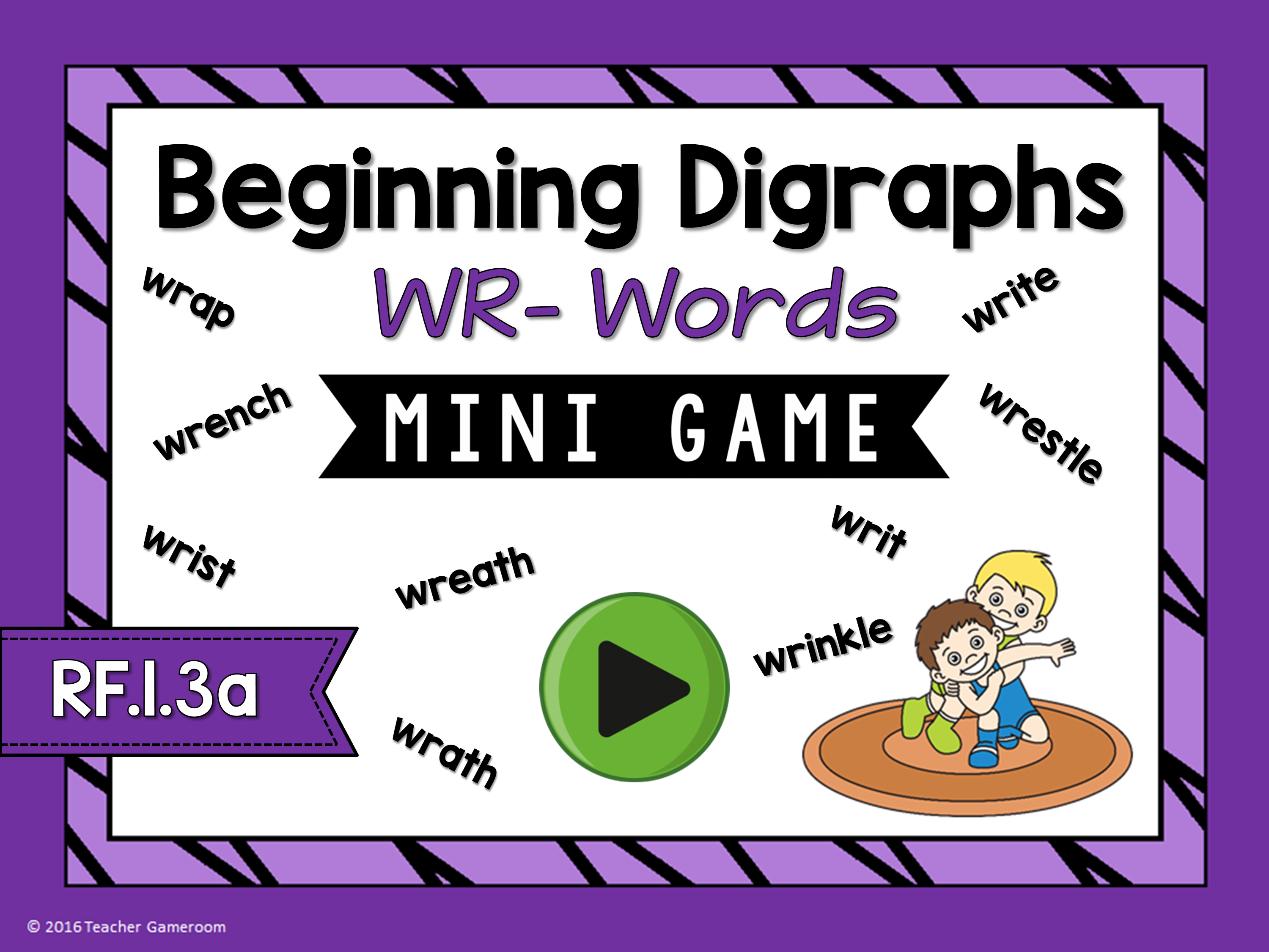 Beginning Digraphs Wr- Words Mini Game