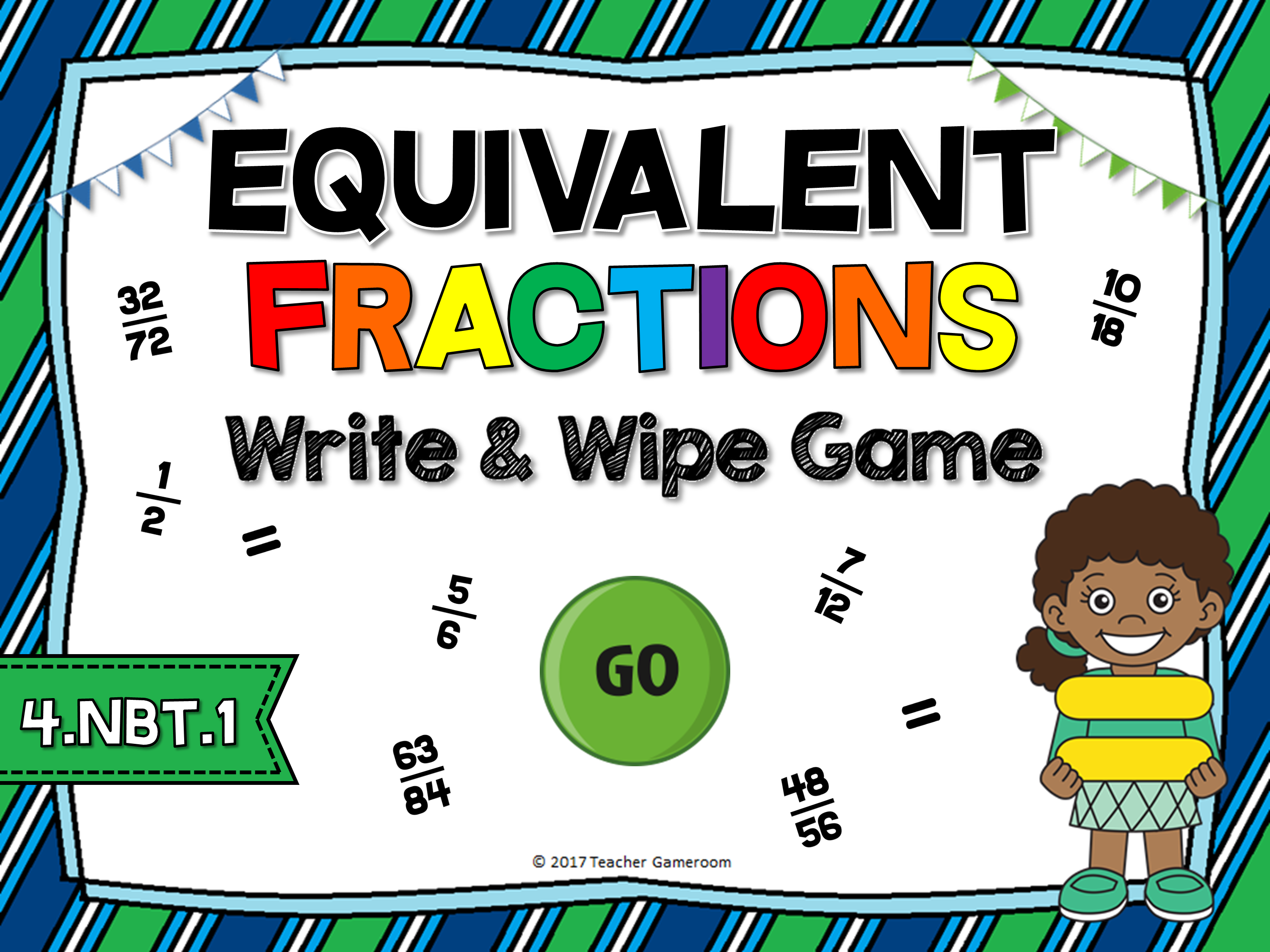 Equivalent Fractions Write & Wipe Game