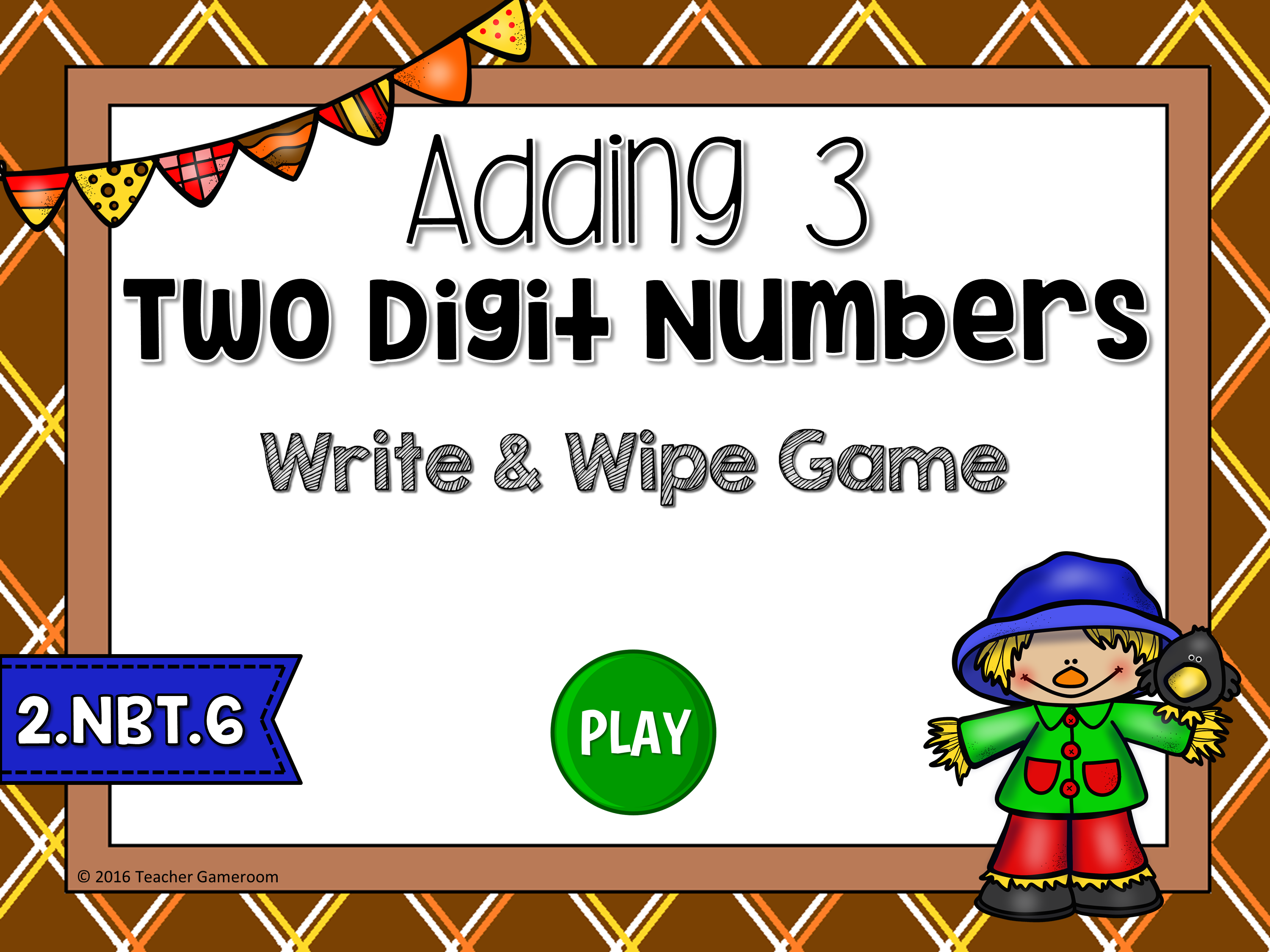 Adding 3 Two-Digit Numbers Game