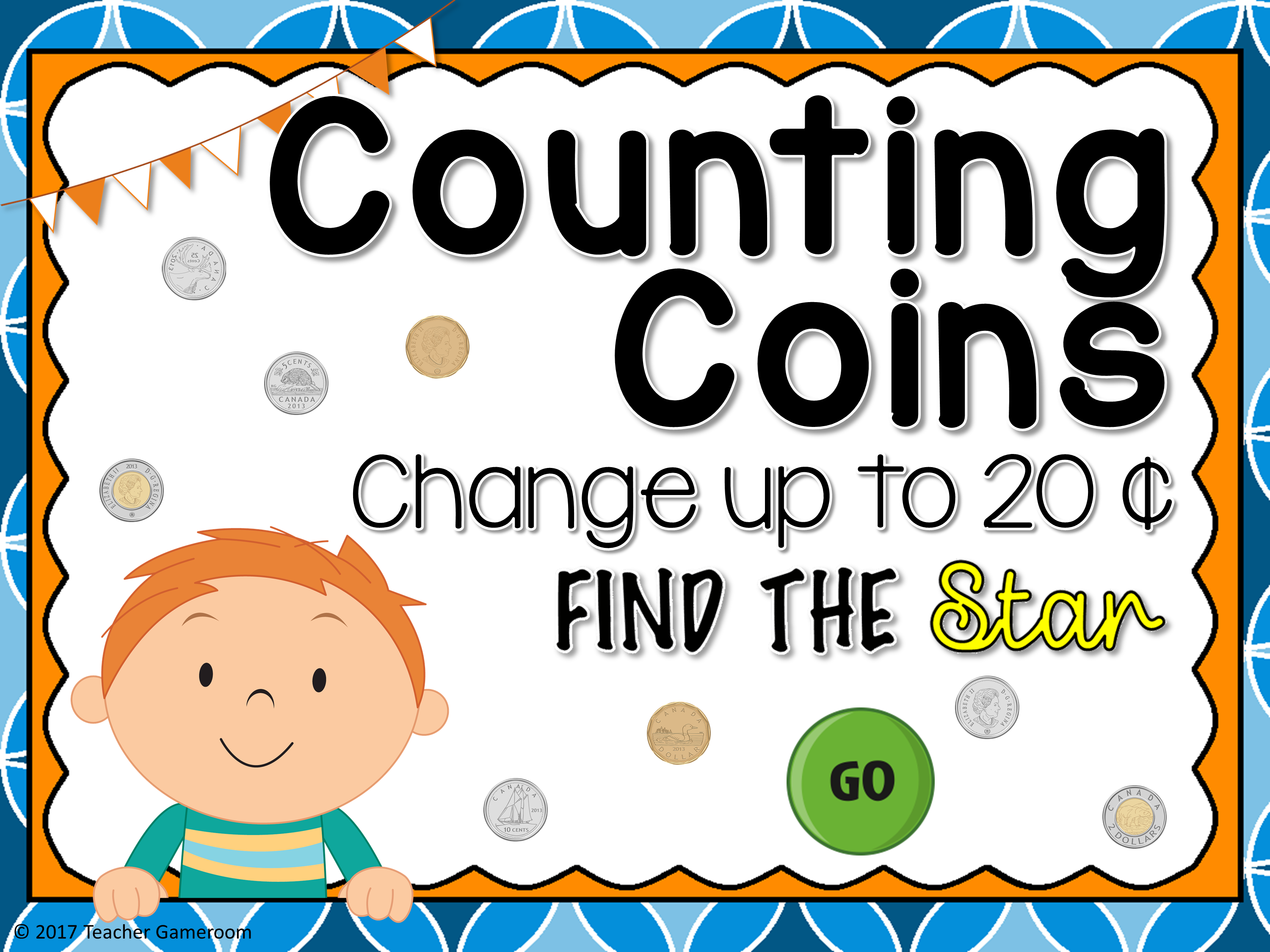 Counting Canadian Coins to 20 Cents Find the Star Game