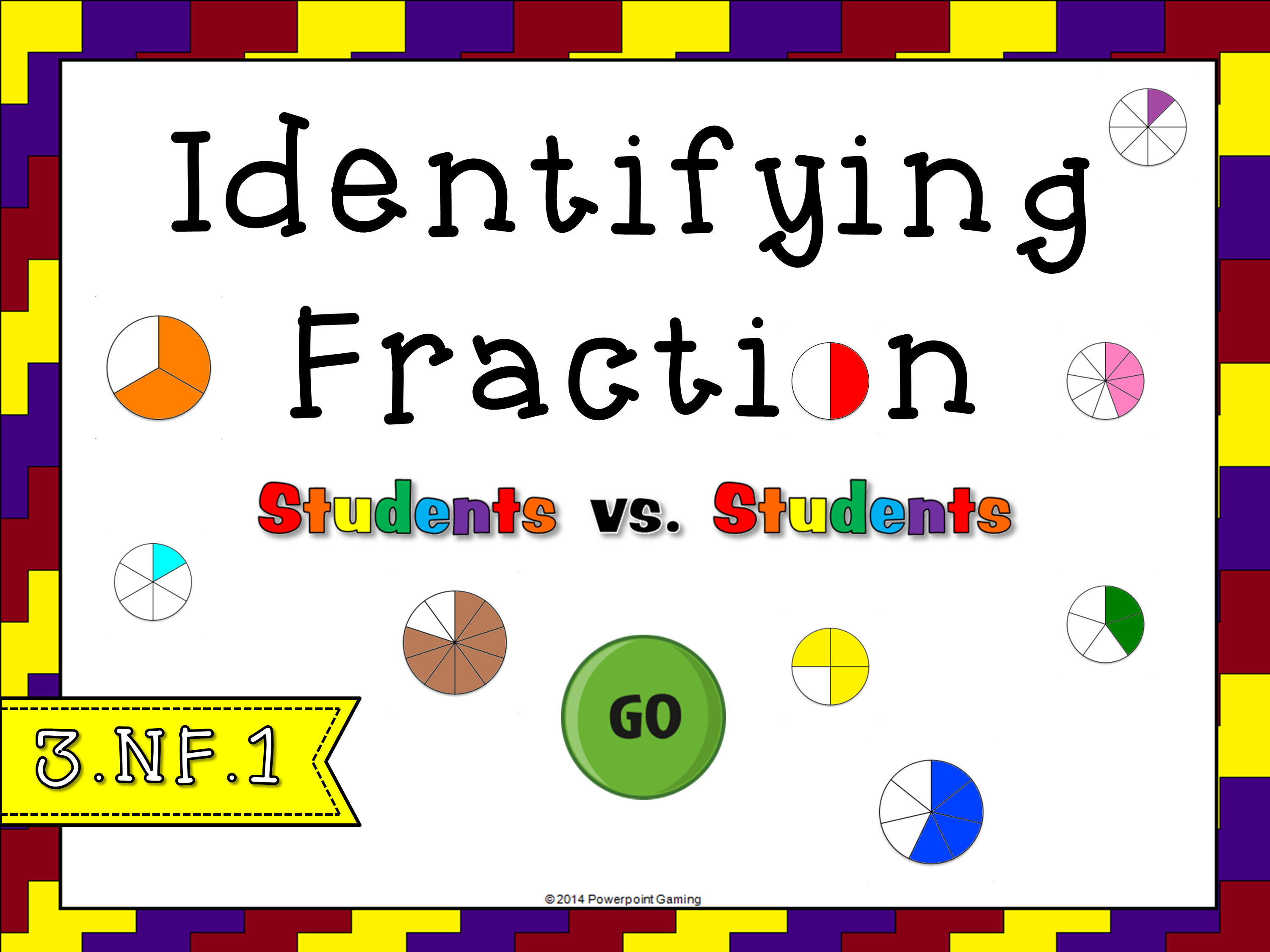 Identifying Fraction Circles Student vs Student Game