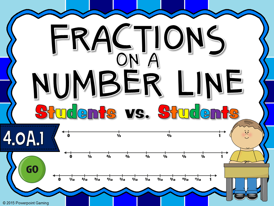 Fractions on Number Line Student vs Student Game