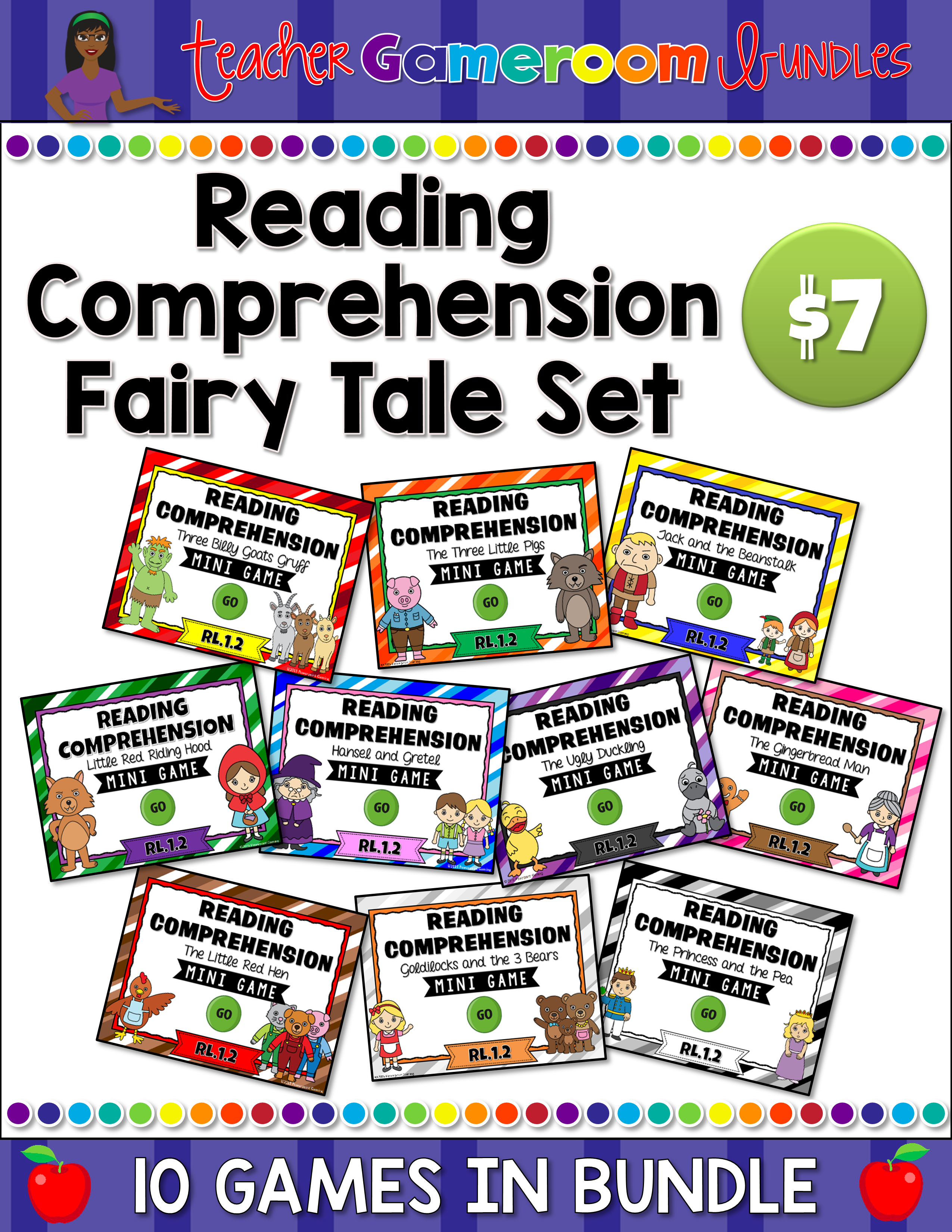Faily Tale Reading Comprehension Bundle