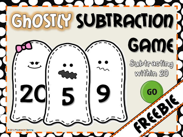 Subtracting within 20 Teacher vs Student Game