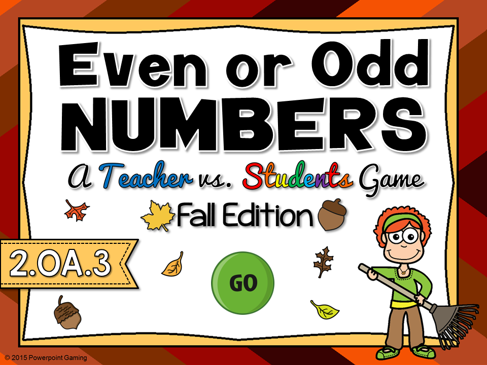 Even or Odd - Fall Teacher vs Student Game