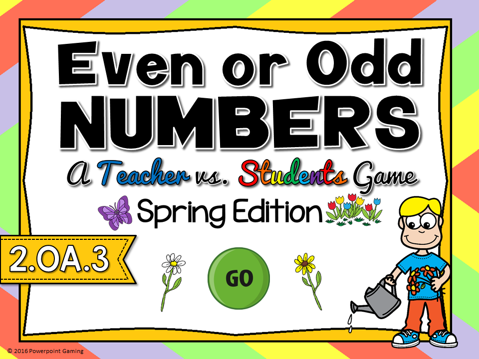 Even or Odd - Spring Teacher vs Student Game