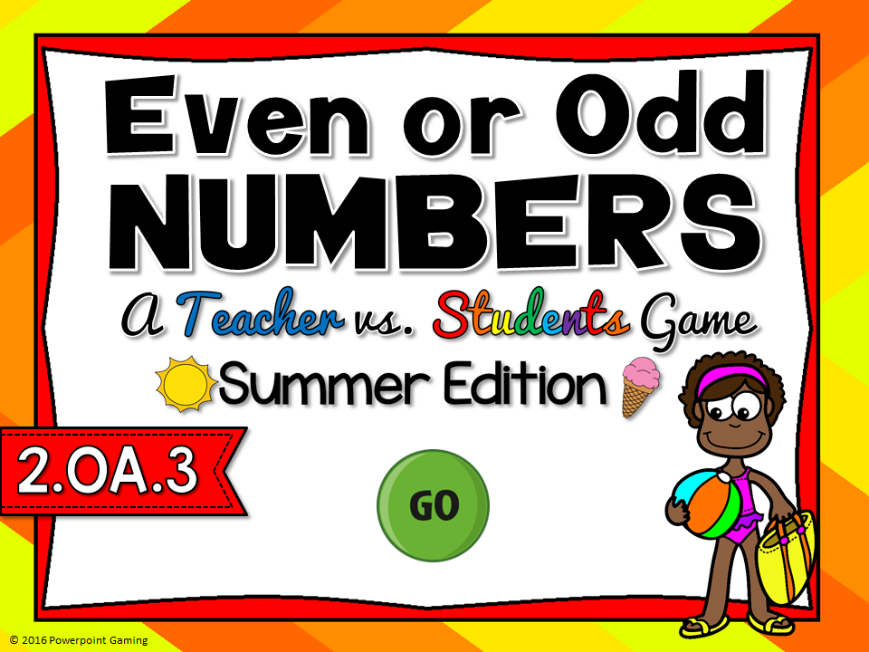 Even or Odd - Summer Teacher vs Student Game