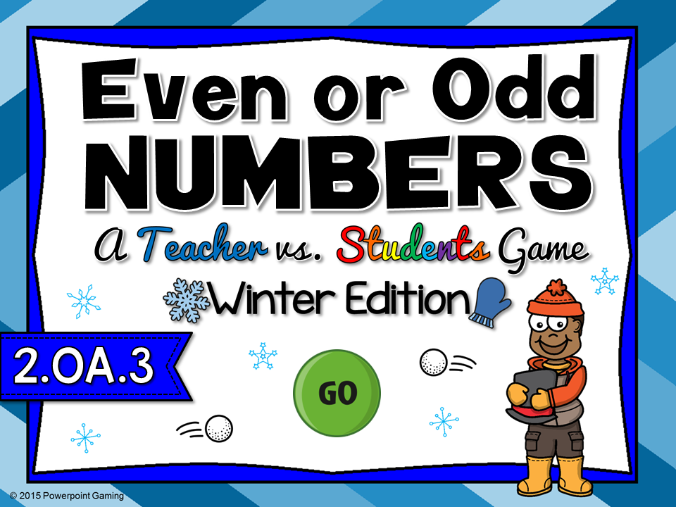 Even or Odd - Winter Teacher vs Student Game