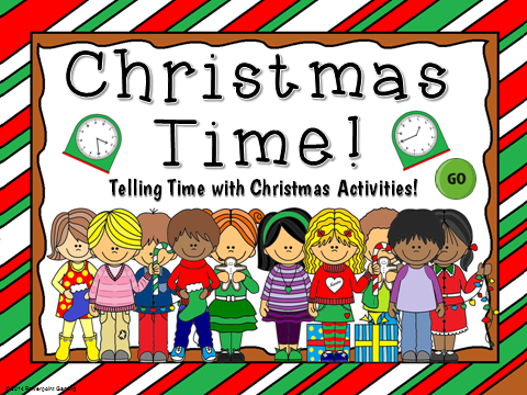 Telling Time with Christmas Teacher vs Student Game