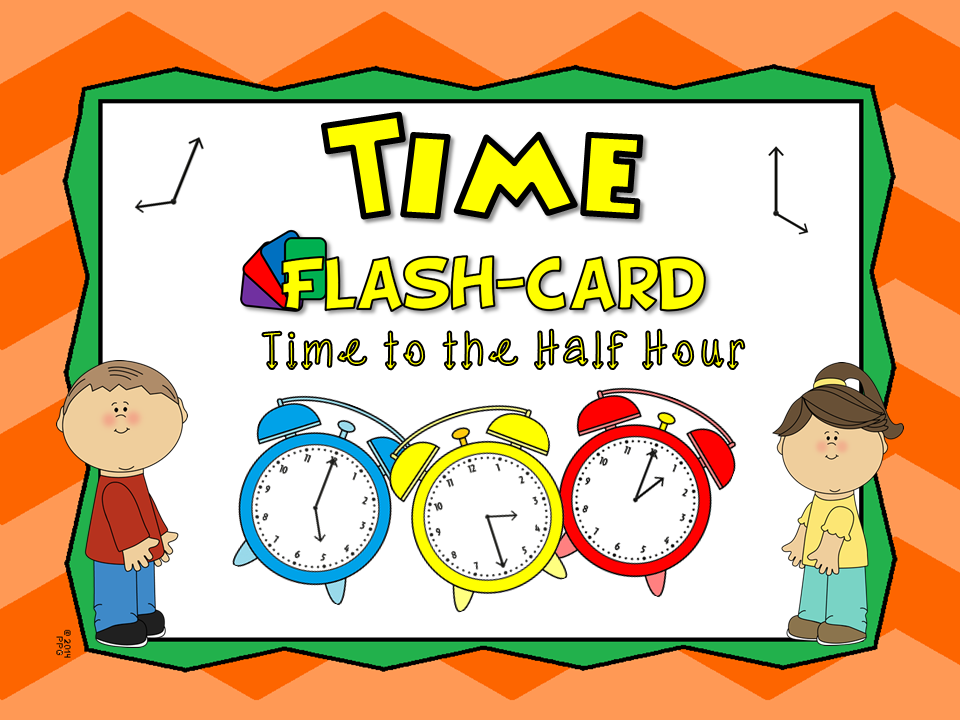 Time to Half Hour Flash Cards Set