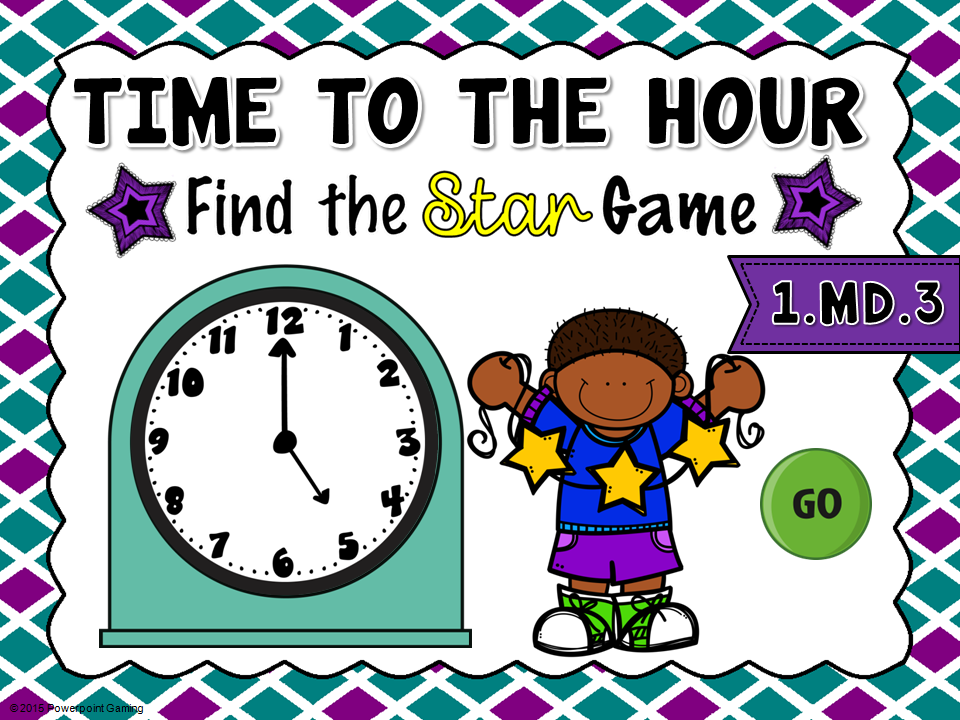 Time to the Hour Find the Star Game