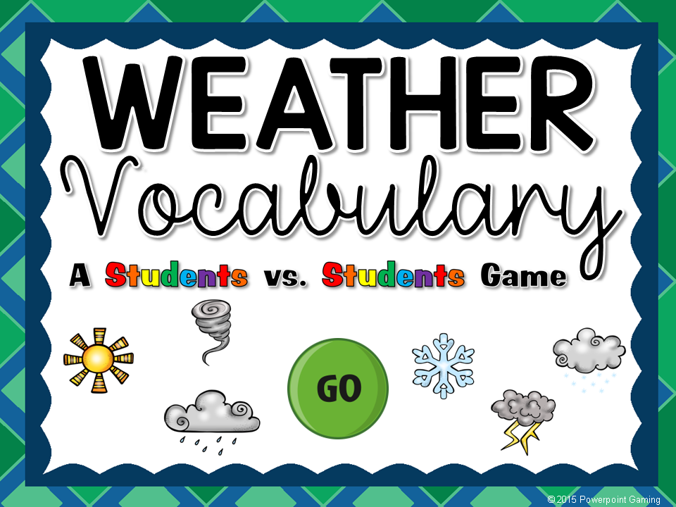 Weather Vocabulary Student vs Student Game