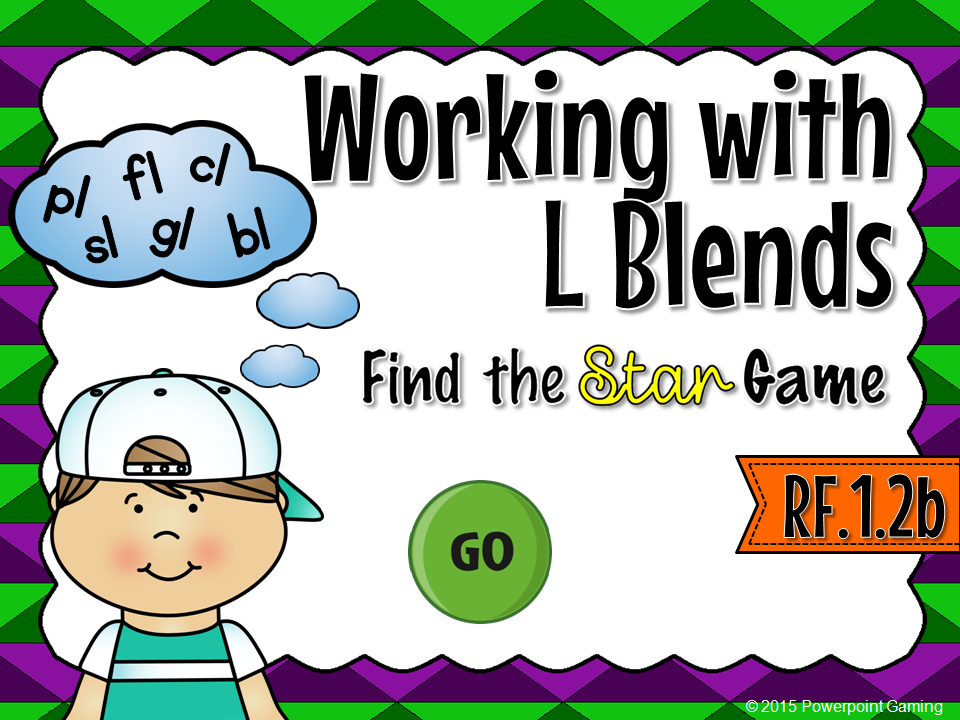 Workng with L Blends Find the Star Game