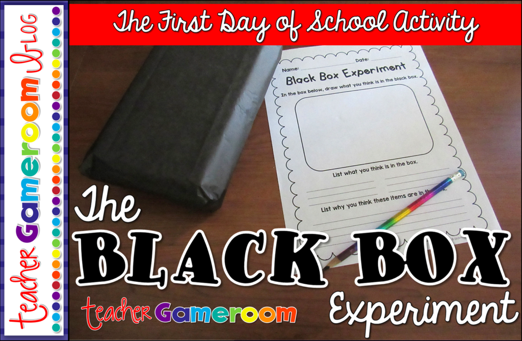 """""""The Black Box Experiment"""" – The First Day of School Activity"""