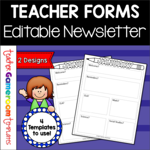 Classroom Newsletter by Teacher Gameroom 5