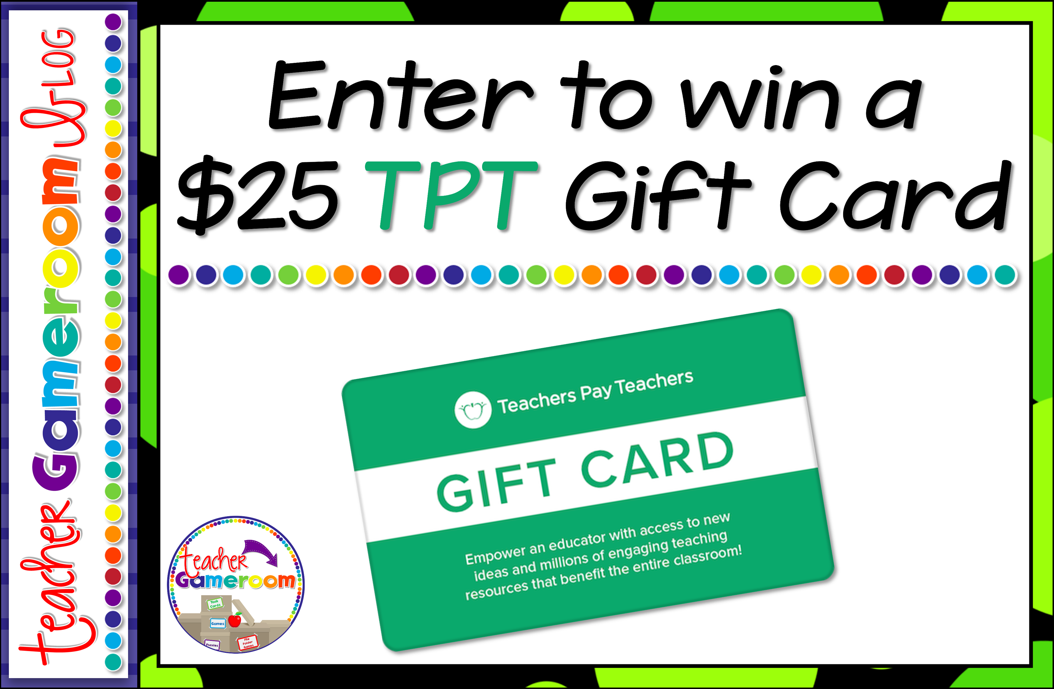 Win a $25 Teachers Pay Teacher Gift Card and resources for your ...