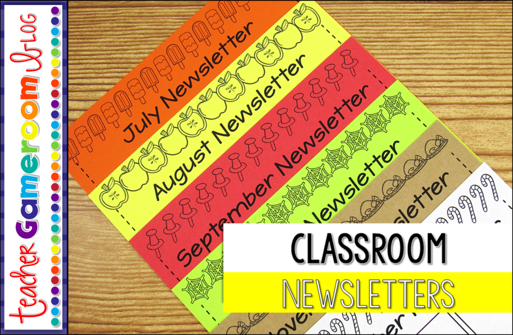 Using Monthly Classroom Newsletters