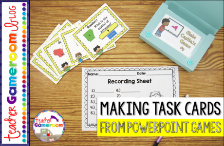 How to make Task Cards from a Powerpoint Game