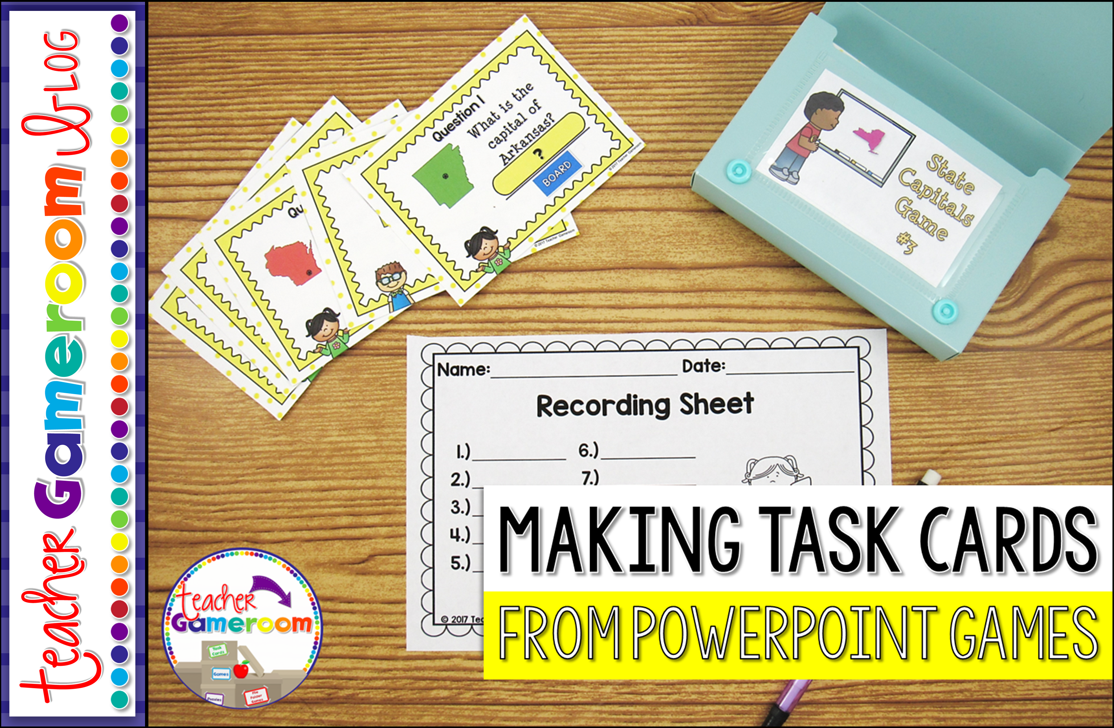 How To Make Task Cards From A Powerpoint Game Teacher Gameroom - Task card template