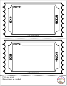 photo about Printable Exit Tickets called How in direction of Seek the services of Exit Tickets within just the Clroom - Instructor Gameroom